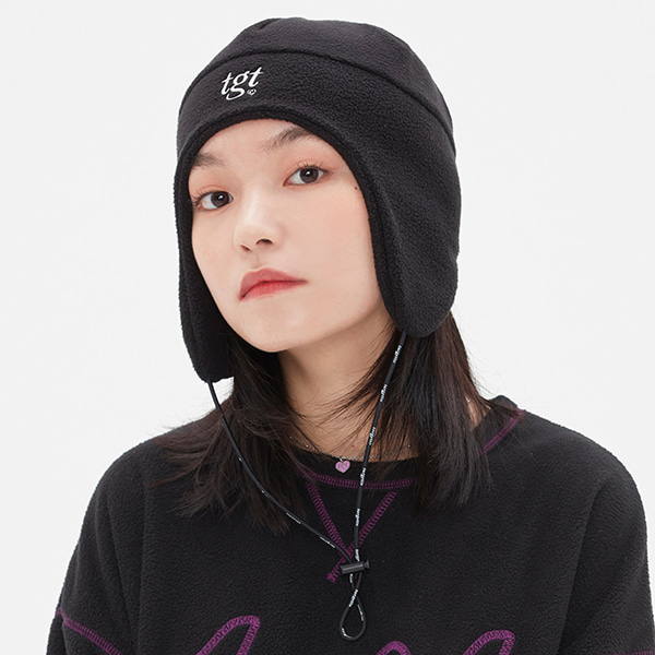 TGT POLAR FLEECE HAT_BLACK