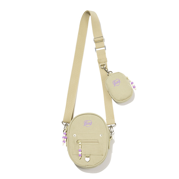 [FRIZMWORKS X TGT]CIRCLE CROSS BAG_BEIGE