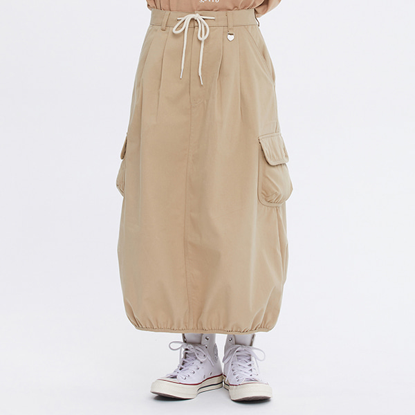 [FRIZMWORKS X TGT]BALLOON POCKET SKIRT_BEIGE