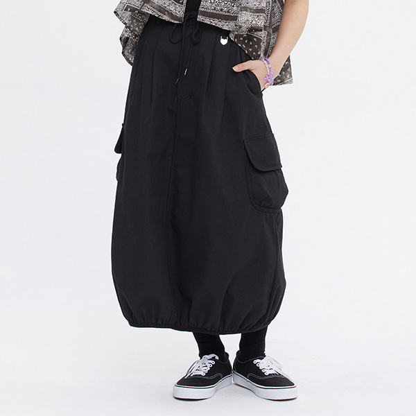 [FRIZMWORKS X TGT]BALLOON POCKET SKIRT_BLACK