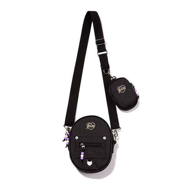[FRIZMWORKS X TGT]CIRCLE CROSS BAG_BLACK