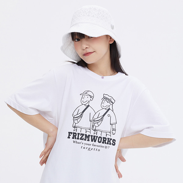 [FRIZMWORKS X TGT]COUPLE GRAPHIC TEE SHIRT_WHITE