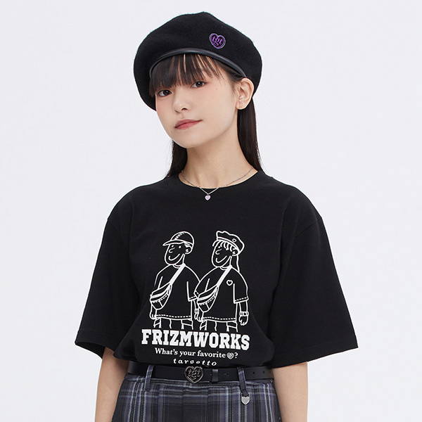 [FRIZMWORKS X TGT]COUPLE GRAPHIC TEE SHIRT_BLACK