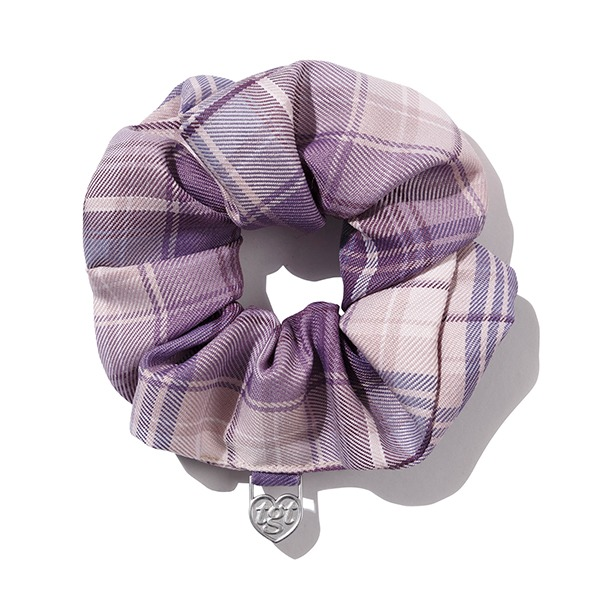 CHECK SCRUNCHIES_LIGHT PURPLE
