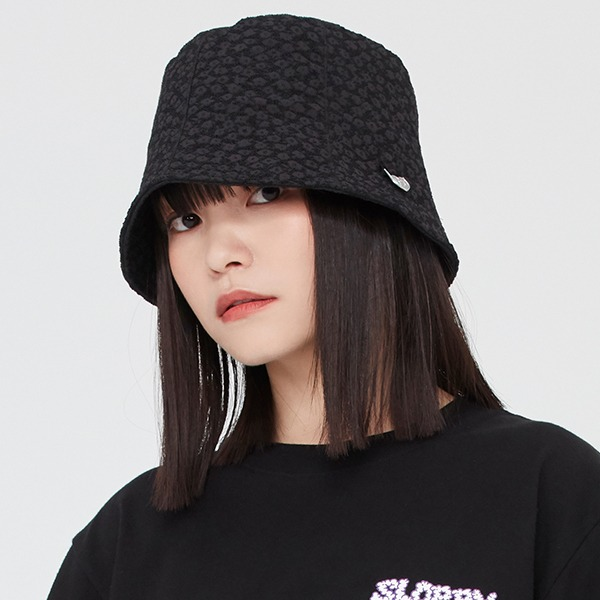 DAISY JACQUARD BUCKET HAT_BLACK