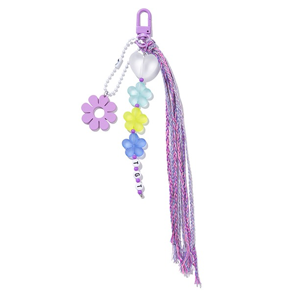 HEART & DAISY KEY RING_PURPLE