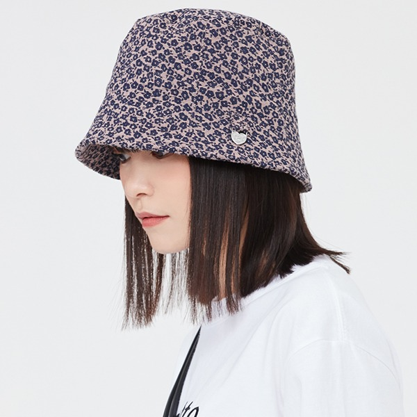 DAISY JACQUARD BUCKET HAT_PURPLE