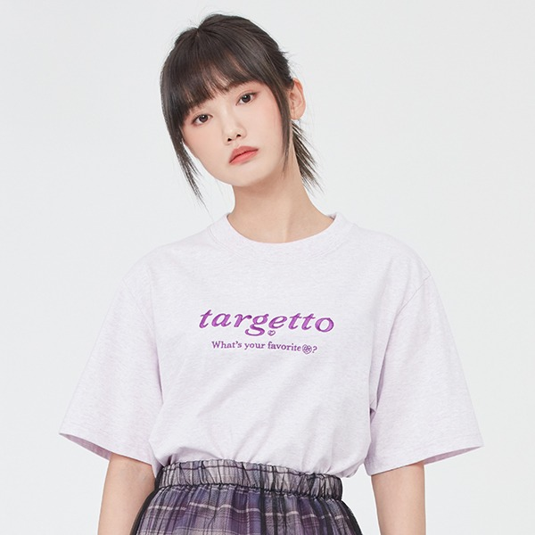 BASIC LOGO TEE SHIRT_MELANGE LIGHT PURPLE