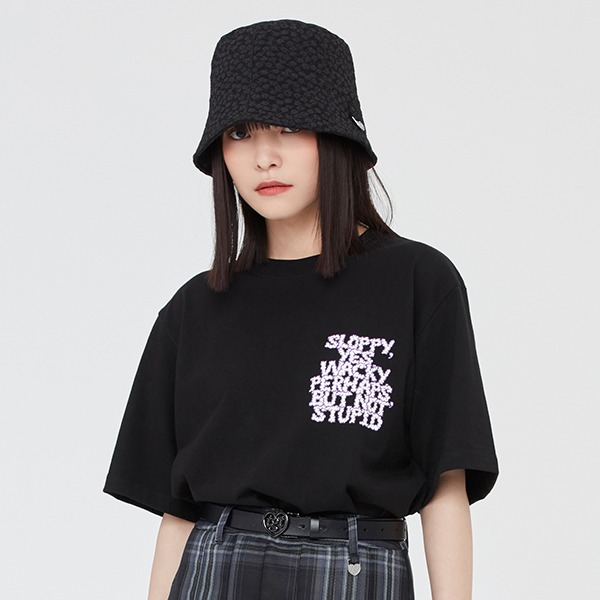 SLOPPY WACKY TEE SHIRT_BLACK