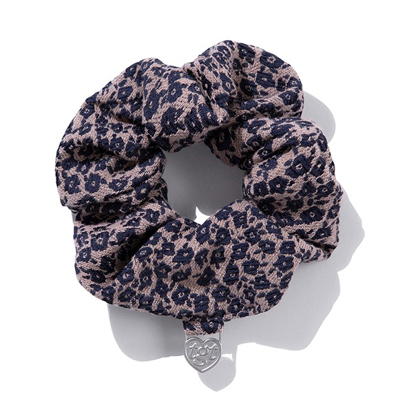 DAISY JACQUARD SCRUNCHIES_PURPLE