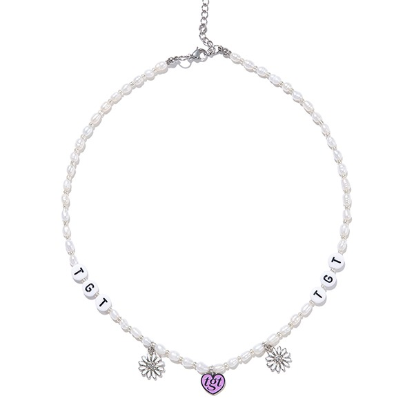 HEART & DAISY PEARL NECKLACE_SILVER