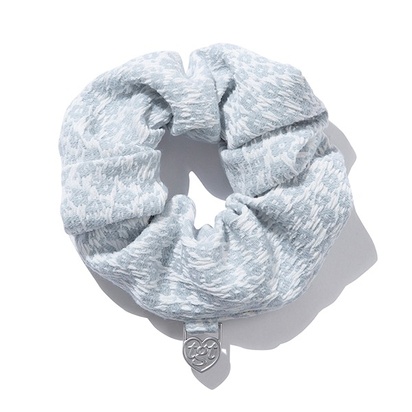 DAISY JACQUARD SCRUNCHIES_LIGHT BLUE