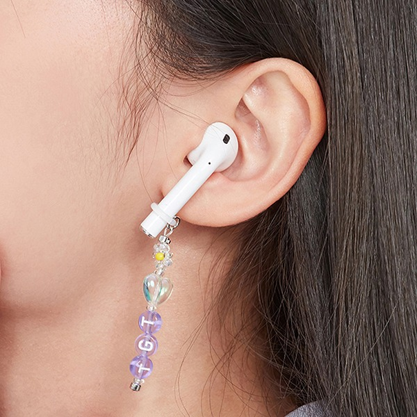TGT BEADS AIRPOD RING_PURPLE