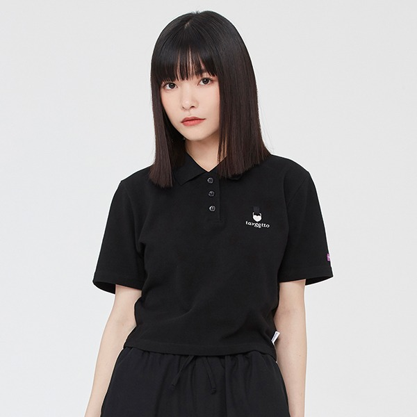 HEART RING PIQUE SHIRT_BLACK