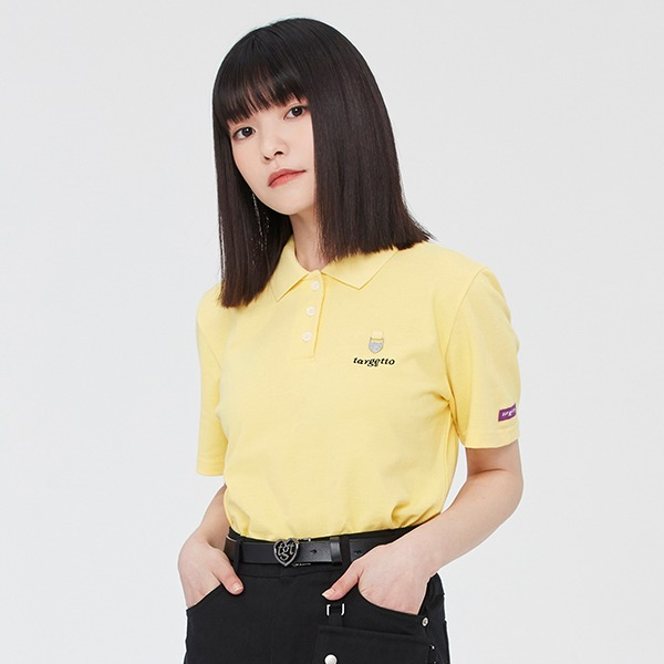 HEART RING PIQUE SHIRT_LIGHT YELLOW