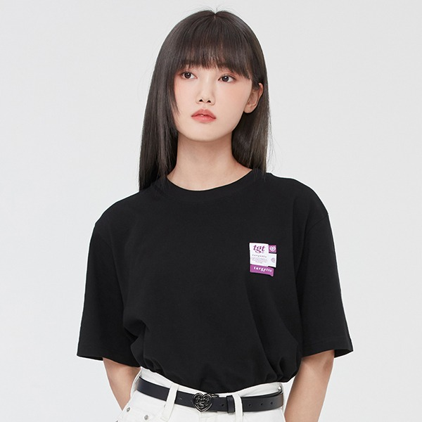 LABEL LOGO TEE SHIRT_BLACK